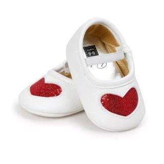 Giày tập đi cho bé gái từ 0 18 tháng tuổi trái tim nhũ xinh xắn BBShine TD5 thumbnail