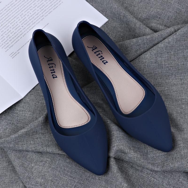 Giày Bệt Nữ, Giày Búp Bê Nữ Nhựa Dẻo đi Mưa Chống Nước Siêu Tốt Kèm Clip Thật Nhé ạ (form Nhỏ Lấy Tăng 1 Size) Duy Nhất Khuyến Mại Hôm Nay