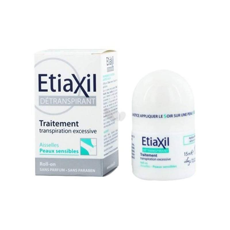 [Hàng Chính Hãng] Lăn khử mùi đặc trị Etiaxil Détranspirant Aisselles Peaux Sensibles 15ml (cho da hỗn hợp, da nhạy cảm)