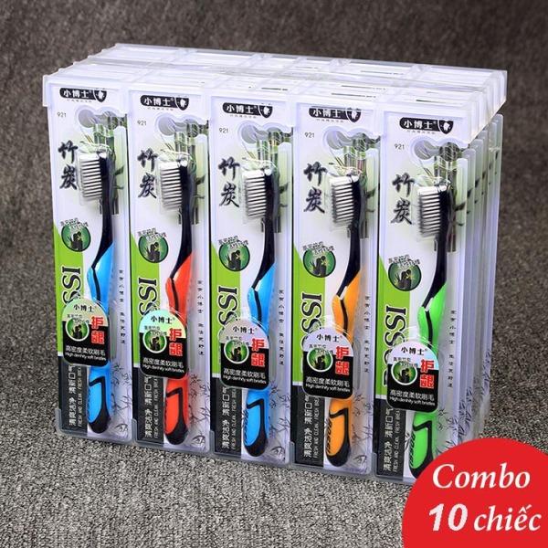 Combo 10 chiếc Bàn Chải Đánh Răng Làm Từ Than Hoạt Tính BOSSI Hàn Quốc - gocnhacua