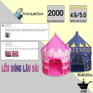 Lều cho bé - Lều công chúa hoàng tử cho bé vui chơi hình lâu đài thumbnail