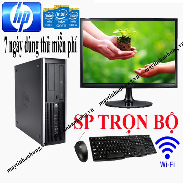 Bộ máy tính để bàn pc case HP chip Intel i7/ i5/ i3 sản phẩm trọn bộ đã bao gồm màn hình, dùng cho văn phòng làm việc, học tập trường học tặng kèm usb wifi(cắm điện là dùng)