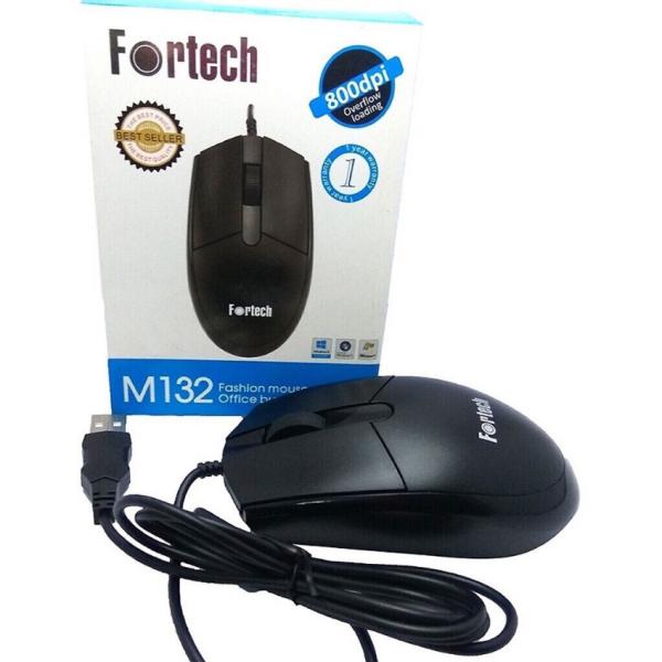 Bảng giá Chuột máy tính có dây Fortech M132 M880 cao cấp dùng văn phòng, chơi game Phong Vũ