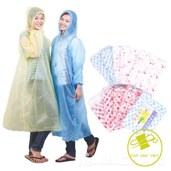 Giá bán [sỉ ib] 2 Áo mưa dùng 1 lần, áo mưa nilong