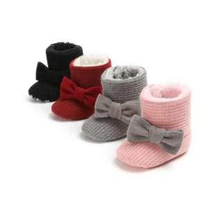 Bốt Đi Tuyết Cho Trẻ Sơ Sinh Bé Trai Bé Gái Giày Cũi Lông Ấm Mùa Đông Giày Đi Bộ Prewalker 0-18 Tháng