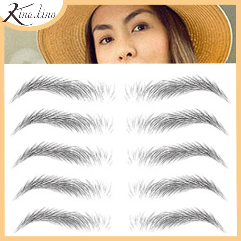 Set 9 cặp xăm lông mày 6D đẹp tự nhiên giữ được 7 ngày - Kinakino nhập khẩu