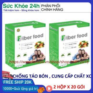 Chất xơ hòa tan cho bé trên 1 tuổi chống táo bón Fiber Food 2 hộp x 20 gói HSD 2023 - Shop Men 2018 thumbnail