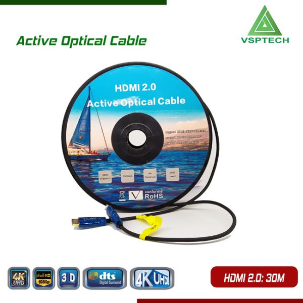 Bảng giá Cáp Active Opticail 4K - 3D HDMI 2.0V - 30m Phong Vũ