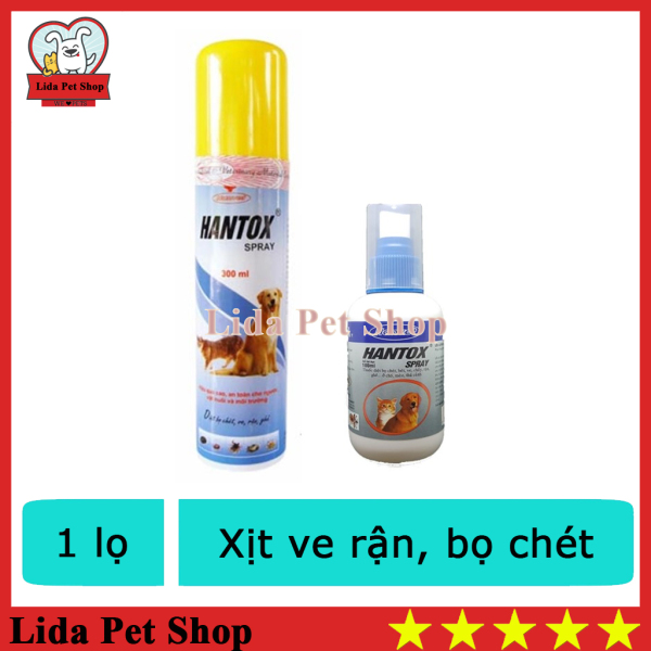 HN- Hantox Xịt ve rận chó mèo bọ chó và bọ mèo 2 loại 100ml và 300ml