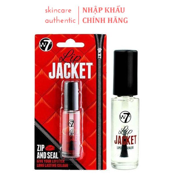 Gel Khóa Màu Son W7 Lip Jacket Zip And Seal 5Ml, khóa màu son cực lì không trôi, khóa son môi cực lì giữ màu son không bị trôi
