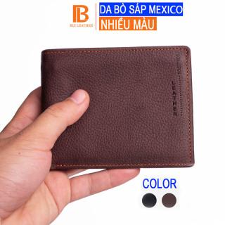 Ví nam da bò sáp Mexico V102 cao cấp, bóp nam da bò thật nhiều ngăn chứa tiền chứa thẻ, dáng ngang và đứng có khóa kéo,2 màu đen và nâu,Fullbox hộp sang trọng làm quà tặng,thương hiệu Bụi leather chuyên đồ da thật,bảo hành 24 tháng thumbnail