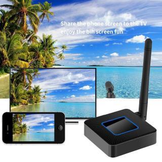 Thiết bị HDMI không dây Dongle Q4 cao cấp - Wifi Display Dongle Q4 - HDMI Dongle Q4 hỗ trợ HDMI và AV trình chiếu từ Smartphone lên Tivi - HDMI không dây Q4 có hỗ trợ cổng AV thumbnail