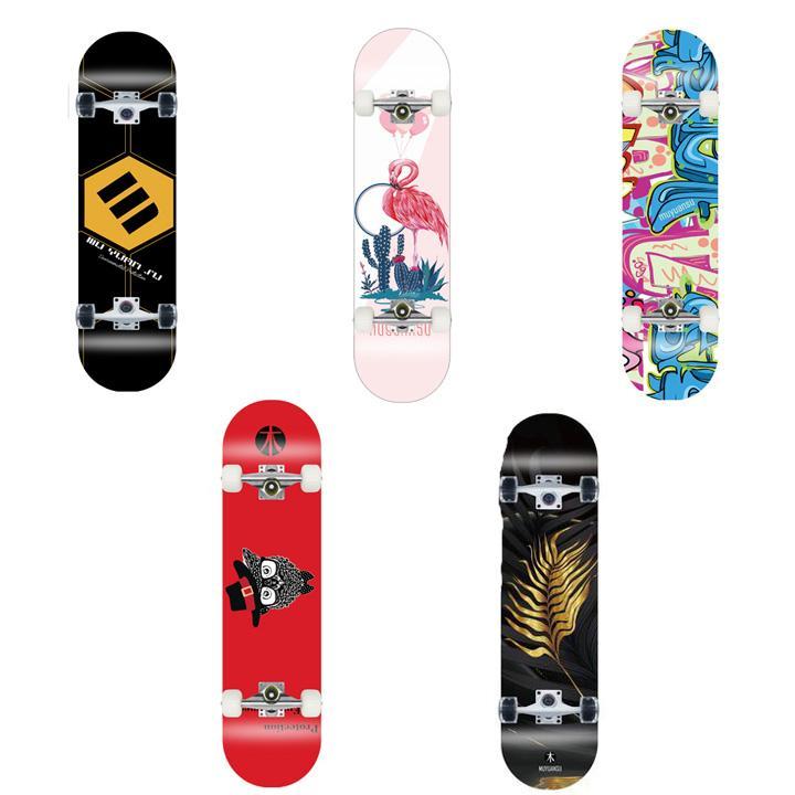 Ván trượt skateboard thể thao chất liệu gỗ phong ép cao cấp 8 lớp mặt nhám - 6
