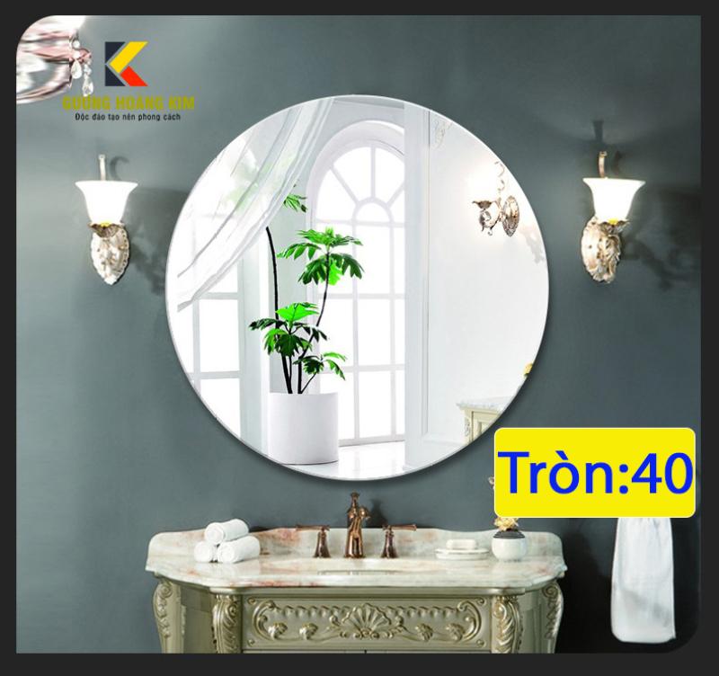 Gương soi trang điểm nhà tắm treo tường kích thước D40 - guonghoangkim - Mirror