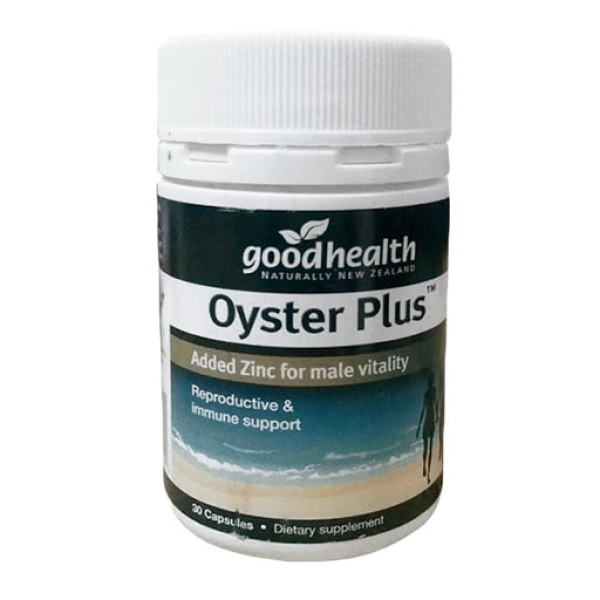 Tinh Chất Hàu Biển New Zealand GoodHealth Oyster Plus Hỗ trợ tăng cường sức khỏe nam giới (30 viên) - Nhập khẩu New Zealand