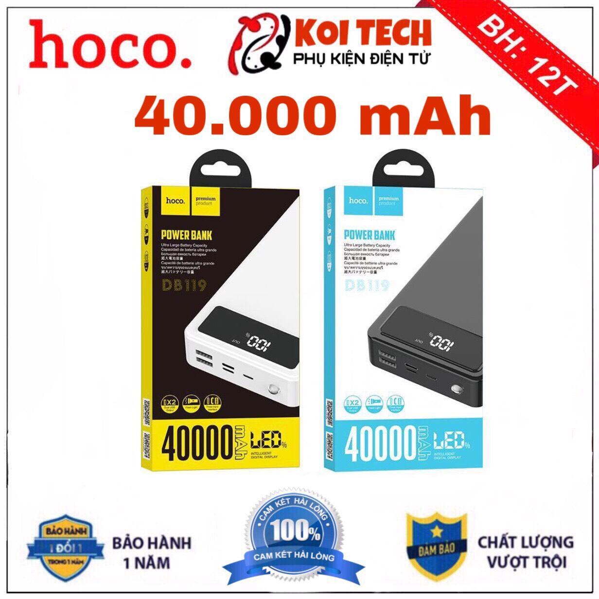 Pin sạc dự phòng sạc nhanh Hoco db119 40000 mah