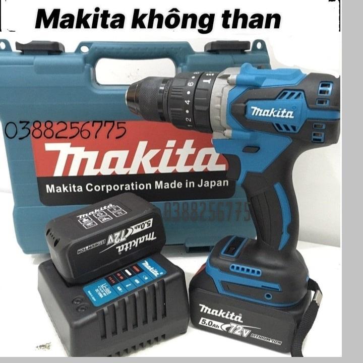 Máy Khoan Pin Makita 72v.Không Chổi Than.Có Chức năng Búa.Đầu 13 ly.pin 5.0Ah