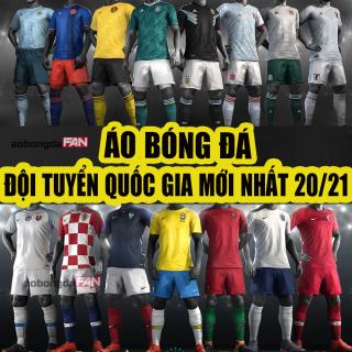 Bộ Đá Banh Đội Tuyển Quốc Gia Euro 2021 - THUN CAO CẤP - Có in tên số thumbnail