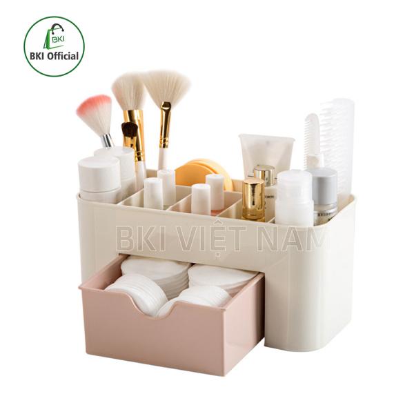 Kệ đựng mỹ phẩm mini có ngăn kéo, kệ mỹ phẩm nhiều ngăn thiết kế thông minh chất liệu nhựa dễ dàng vệ sinh