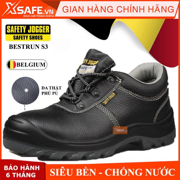 Giày bảo hộ lao động nam Jogger Bestrun S3 da bò thật, chống nước, giày bảo hộ chuẩn S3 Châu Âu kiểu dánh thể thao, cao cấp - Giày Safety Jogger chính hãng