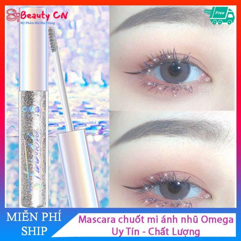 [ Siêu Rẻ] Mascara chuốt mi ánh nhũ cực lung linh Omega - Chuốt dài mi làm cho đôi mắt to tròn Hottrend 2020
