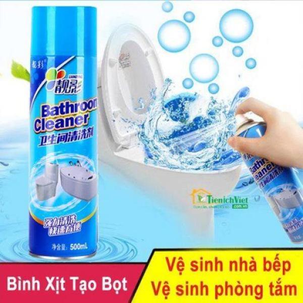 Chai xịt tẩy rửa vệ sinh nhà tắm , sàn gạch siêu tốc 500ml - Chai xịt bọt tuyết rửa bồn cầu