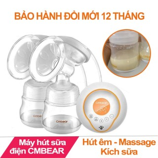 [BH 12 tháng] Máy hút sữa điện đôi CMBEAR cao cấp 9 cấp độ mạnh (cm bear) thumbnail