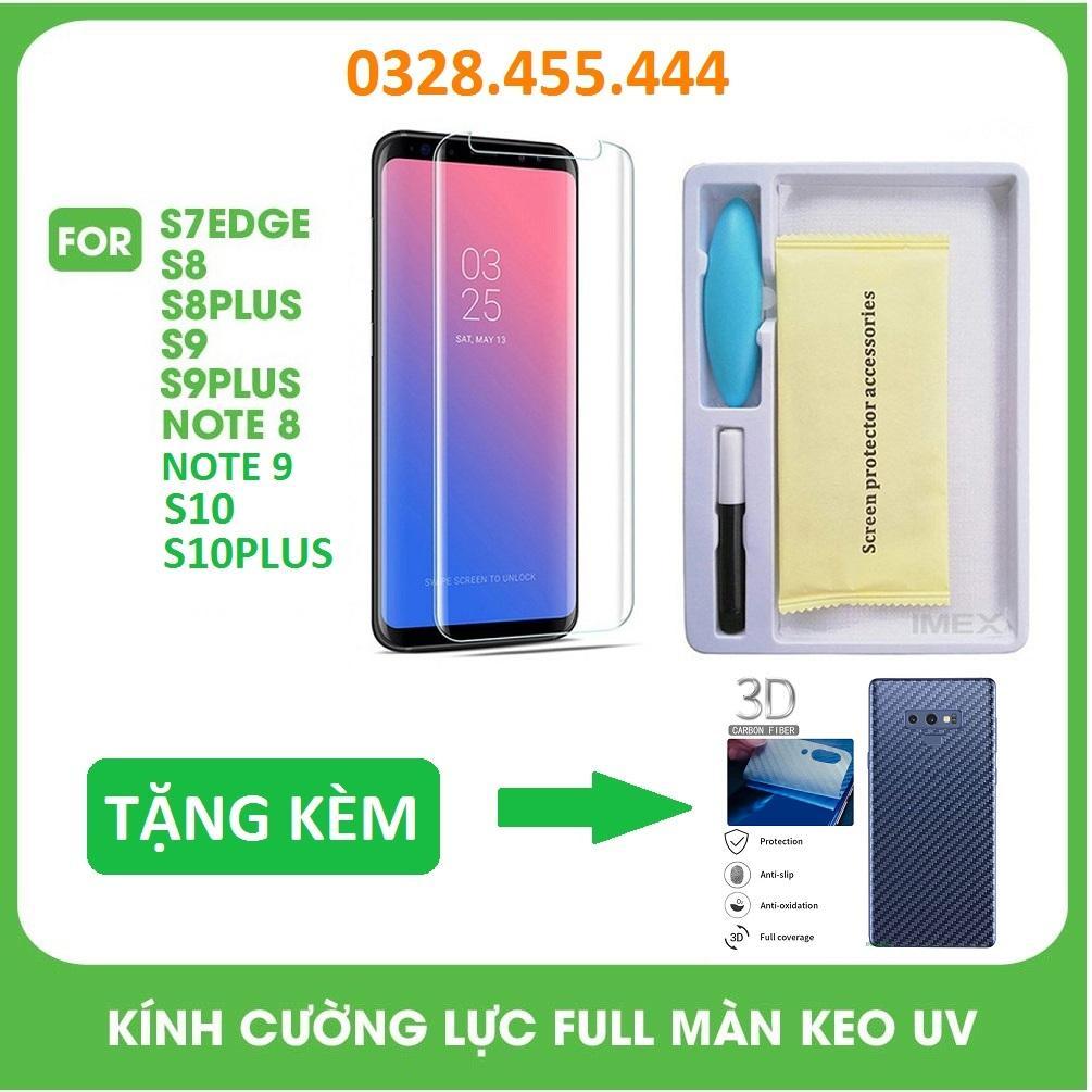 Giá Tiết Kiệm Khi Sở Hữu Kính Cường Lực Full Bộ Keo UV - Full Màn Hình [HỞ LOA] Công Nghệ Mới đèn UV Dành Cho Samsung Galaxy S7edge/S8/S8+/S9/S9+/Note 8/Note 9