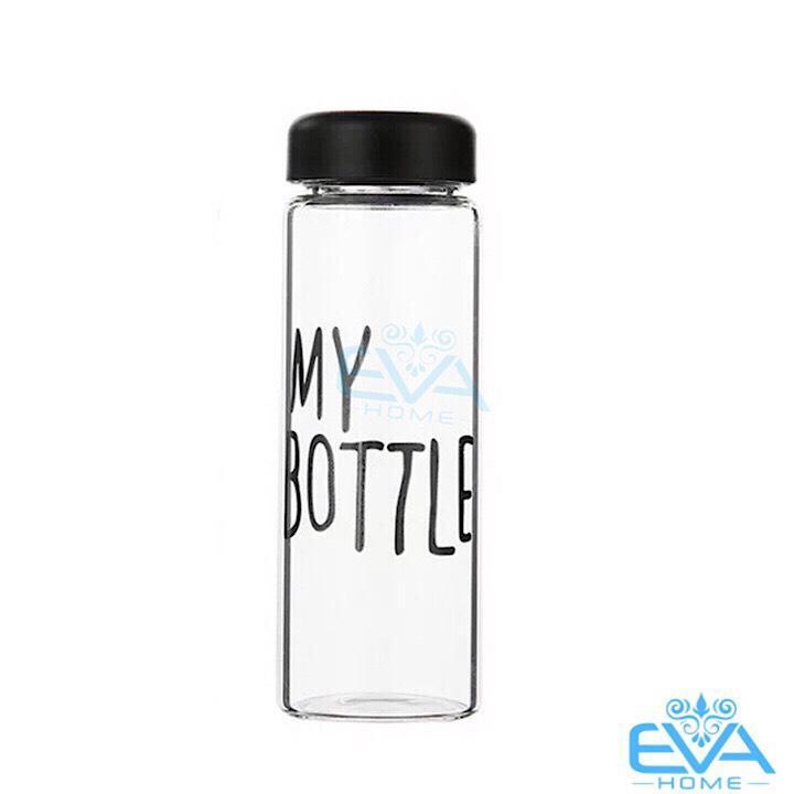 Bình Nước Thủy Tinh In Chữ My Bottle Nhiều Màu 500ml