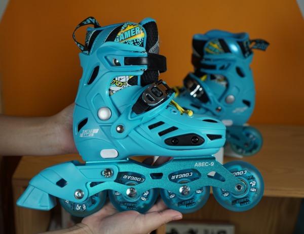Phân phối Giày trượt patin 4 BÁNH SÁNG ĐÈN Cougar MZS 313 TẶNG BỘ BẢO HỘ CHÂN TAY GỐI