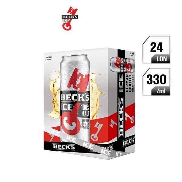 Becks Ice lon 330ml - Thùng 24