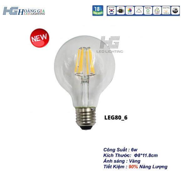 Đèn LED Trang Trí Edison G80 6W