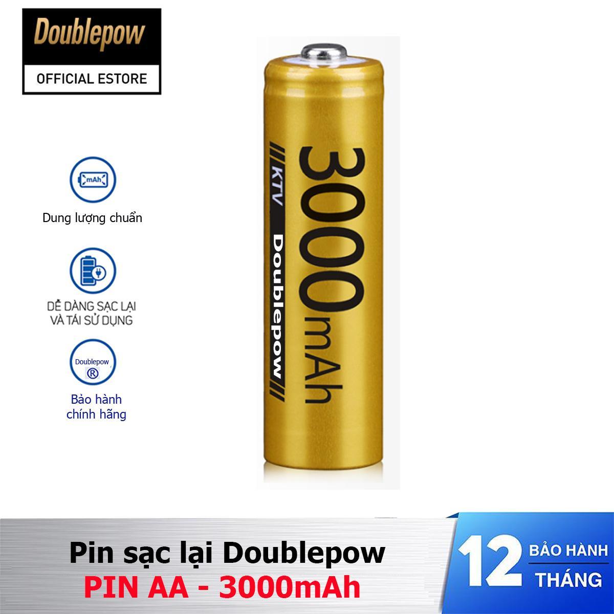 Giá Pin sạc lại Doublepow AA 3000mAh - pin chuyên dụng micro, KTV (màu vàng)