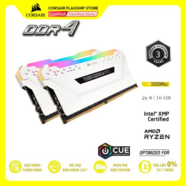 Bảng giá RAM PC CORSAIR VENGEANCE PRO RGB 16GB DDR4 2x8G 3000MHz CMW16GX4M2C3000C15W TRẮNG Phong Vũ