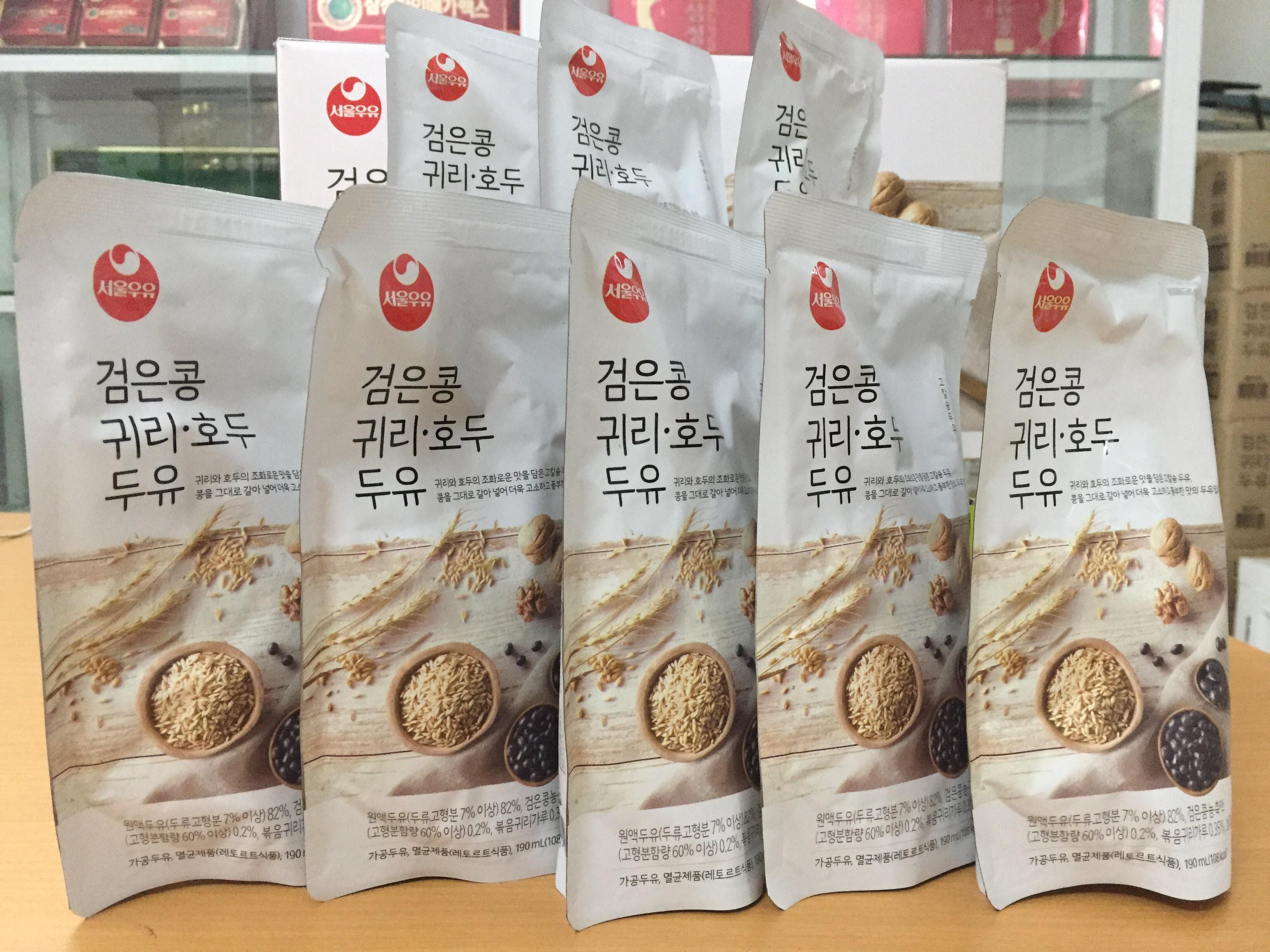 [Seoul Milk] - Sữa Hạt Óc Chó - Hạnh Nhân - Yến Mạch 190ml (10 bịch) - Sữa Hạt số 1 Hàn Quốc