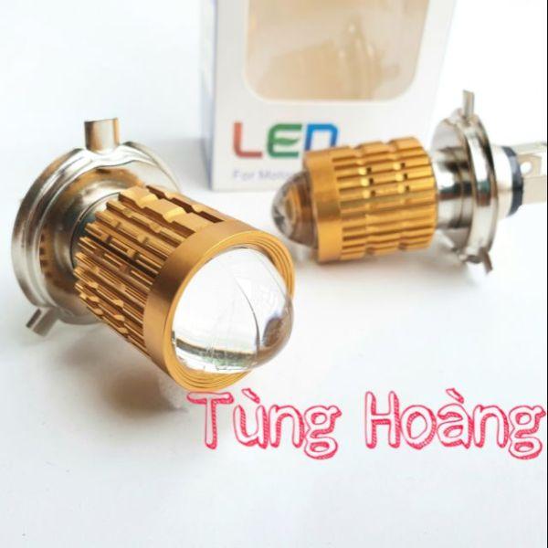 Đèn pha Bi led H4 2 màu cos vàng / pha trắng Loại 1