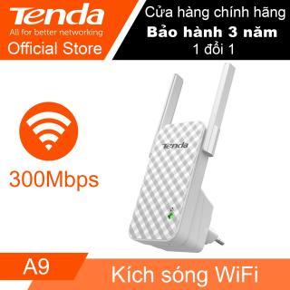 [HCM]( FPT ) Bán bộ thu phát sóng wifi Bộ kích sóng Wi-Fi Tenda A9 tốc độ 300Mbps (Trắng) Thiết bị mở rộng sóng WiFi Cực Mạnh Nhỏ Gọn Với Bắt Sóng Trong Phạm Vi Lên Tới 200 Mét Dễ Dàng Sử Dụng. BH 1 Đổi 1 thumbnail
