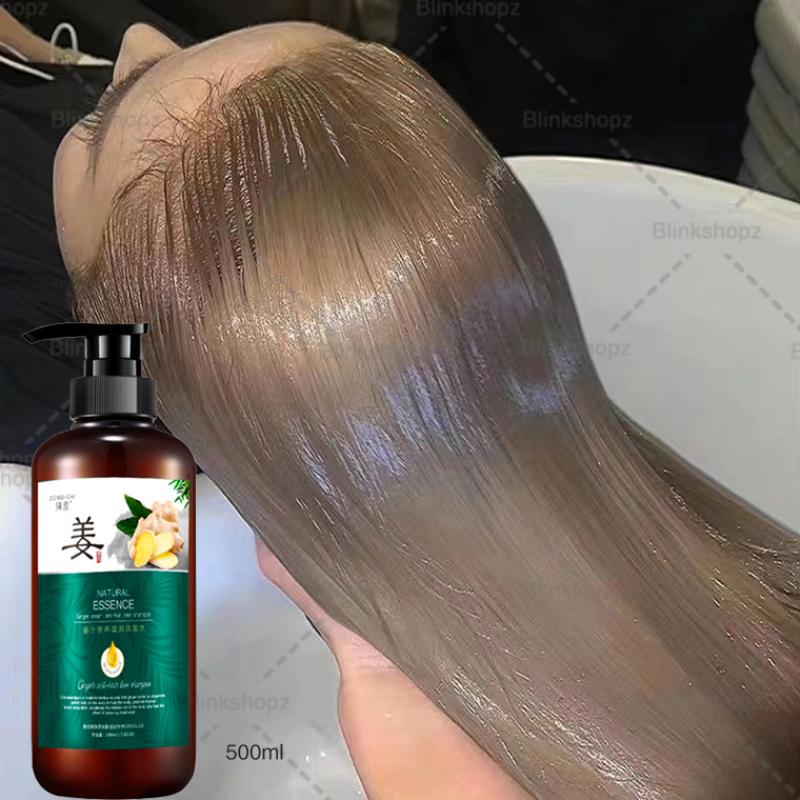 kem ép tóc, chất lỏng mọc tóc, dầu gội chống rụng tóc【500ml】, dầu gội gừng, dầu gọi thảo dược, tươi mát  không nhờn, gốc tóc vững chắc và khỏe mạnh giá rẻ