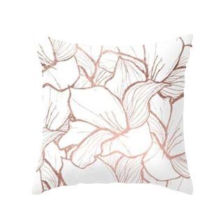 Đệm hương hoa hồng vỏ gối ngắn màu hồng lông đào phong cách bắc âu, vỏ gối sofa hình học trang trí - hình 1