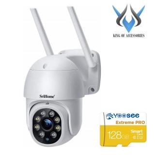 [HCM]Camera IP Wifi ngoài trời PTZ SriHome SP028 2.0MP FullHD 1080P Xoay 355 độ chống nước IP66 (Trắng) - 4 phân loại tùy chọn - Phụ Kiện 1986 thumbnail