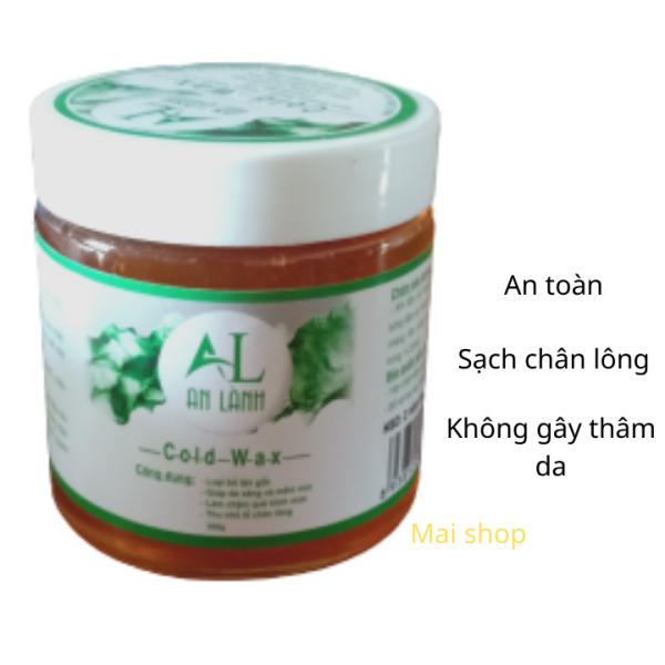 Wax lông An Lành 350g , an toàn , sạch chân lông - Tặng sét giấy và 2 que gỗ cao cấp