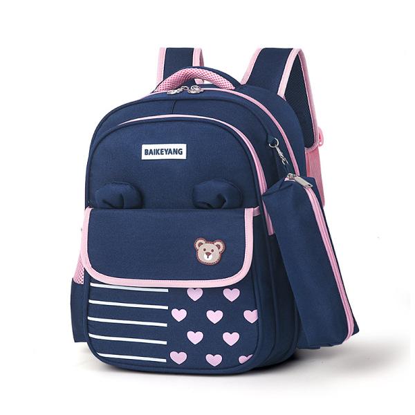 Giá bán [Balo Gấu có túi bút]Cặp học sinh, Ba lô đi học cho bé mẫu giáo lớn tới lớp 1,  Balo siêu nhẹ , chất liệu chống thấm nước, phong cách Hàn Quốc dễ thương