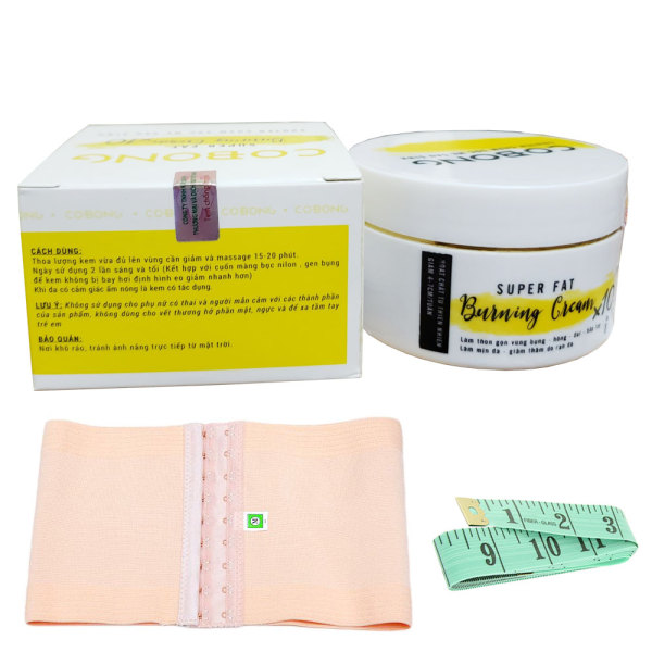 [HCM]Kem tan mỡ Cô Bông x10 giúp giảm mỡ bụng kèm thước dây tặng gen nịt bụng