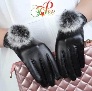 Găng tay da nữ mùa đông chống nước giữ ấm - Mẫu xinh yêu Cảm Ứng 10 Ngón TOPEE DL01 thumbnail