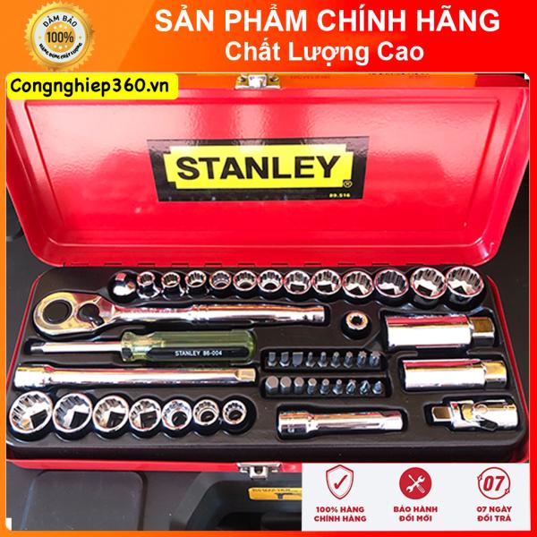 { Hàng Chính Hãng } Bộ đầu tuýp 46 chi tiết Stanley Mỹ- Sản xuất tại Taiwan