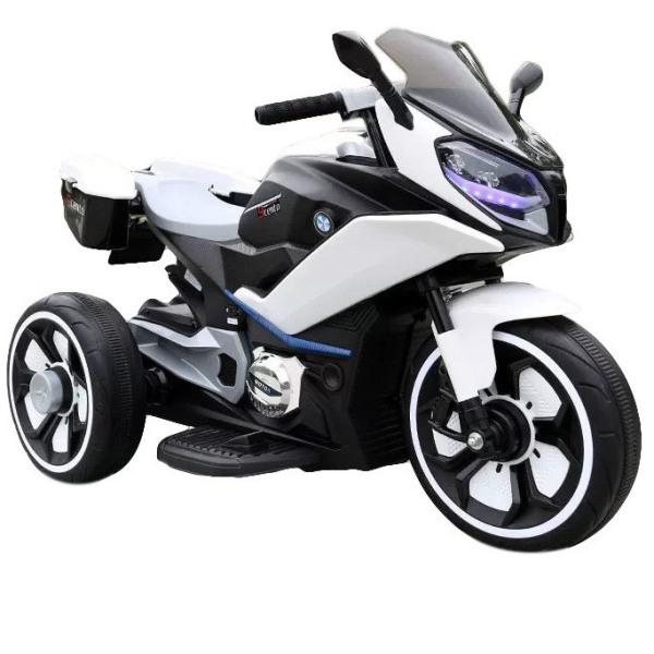 Giá bán Xe máy điện moto 3 bánh FB 618 CRF đồ chơi cho bé đạp ga vận động ngoài trời (Trắng-Đỏ-Vàng)