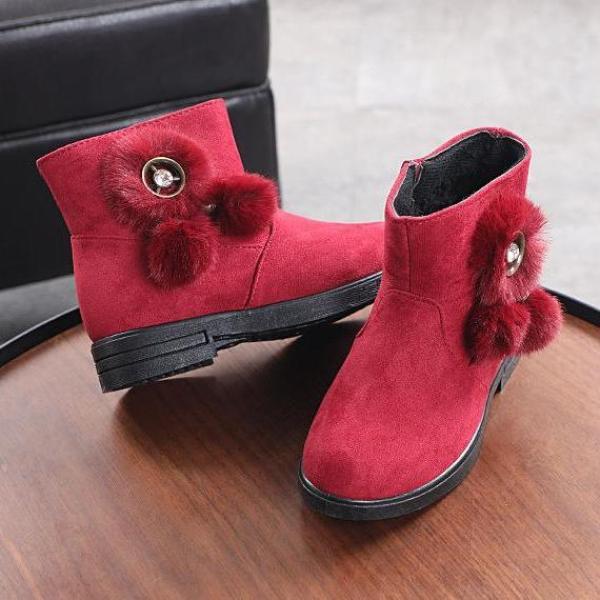 Giá bán giày bốt da lộn bé gái size 32-37