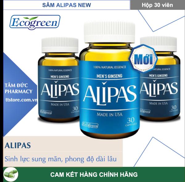 [Mẫu mới] ALIPAS [Hộp 30 viên] - Mạnh mẽ hơn, bền bỉ hơn, thể hiện đẳng cấp quý ông [sâm alipas]