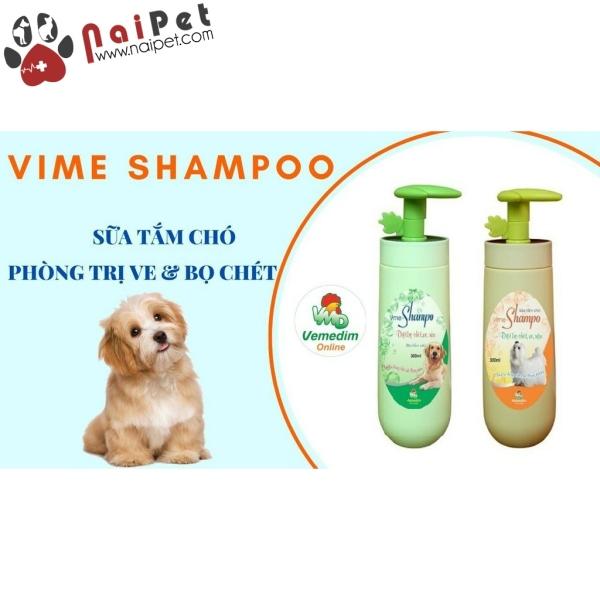 Sữa Tắm Cho Chó Diệt Bọ Chét Ve Rận Vime Shampo Vemedim Chai 300ml