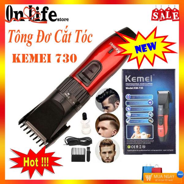 Tông đơ cắt tóc gia đình- Máy cắt tóc người lớn, trẻ em, Máy Điện Dùng Pin- Tông đơ cắt tóc km kemei 730 loại tốt giá rẻ chuyên dụng cho bé tại nhà giá rẻ